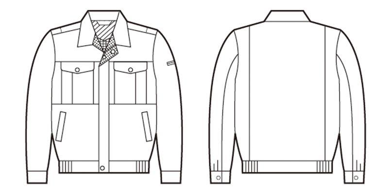 自重堂 84700 [春夏用]エコ吸汗速乾長袖ブルゾン ハンガーイラスト・線画
