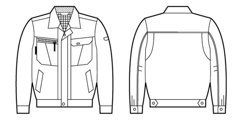自重堂 84800 [春夏用]吸汗速乾長袖ジャンパー ハンガーイラスト・線画