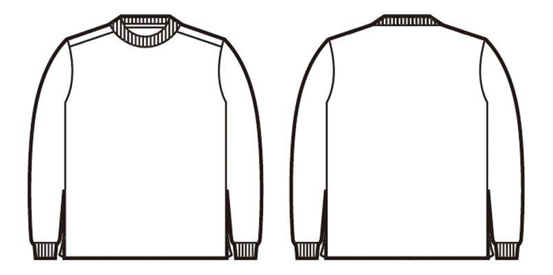 自重堂 85224 吸汗速乾長袖Tシャツ ハンガーイラスト・線画