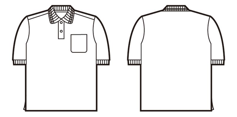 自重堂 85254 エコ製品制電半袖ポロシャツ(胸ポケット有り)(JIS T8118適合) ハンガーイラスト・線画