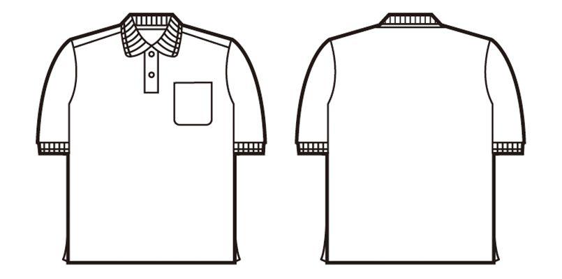 自重堂 85274 半袖ドライポロシャツ(胸ポケット有り) ハンガーイラスト・線画
