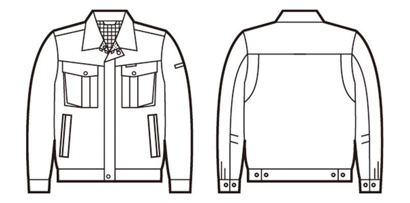 自重堂 85400 [春夏用]エコ 3バリュー 長袖ジャンパー(JIS T8118適合) ハンガーイラスト・線画