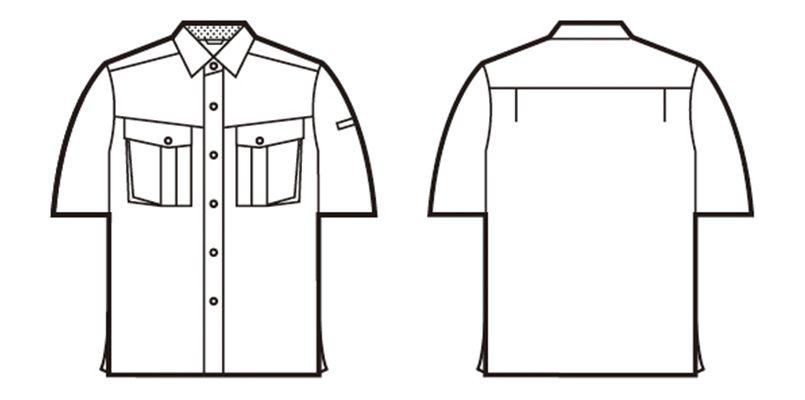 自重堂 85414 [春夏用]エコ 3バリュー 半袖シャツ(JIS T8118適合) ハンガーイラスト・線画