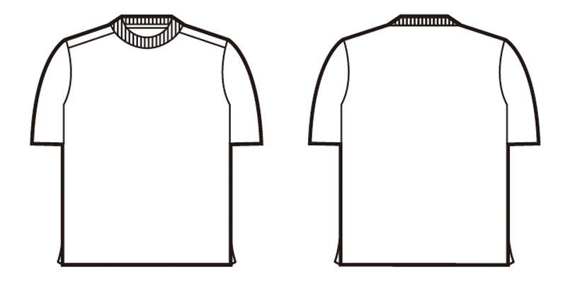 自重堂 85834 吸汗速乾半袖Tシャツ(胸ポケット無し) ハンガーイラスト・線画