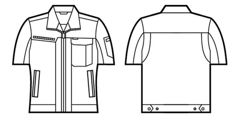 自重堂 86310 [春夏用]ドライオックス吸汗速乾半袖ジャンパー ハンガーイラスト・線画