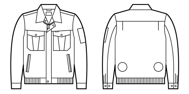 自重堂 87000 [春夏用]空調服 長袖ブルゾン ポリ100% ハンガーイラスト・線画