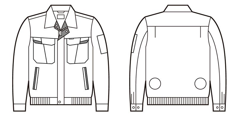 自重堂 87010 [春夏用]空調服 長袖ブルゾン ポリ100% ハンガーイラスト・線画