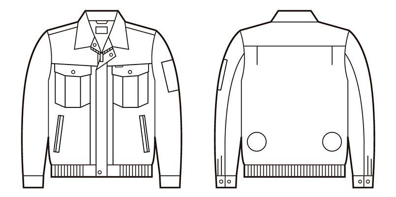 自重堂 87030 [春夏用]空調服 長袖ブルゾン ハンガーイラスト・線画