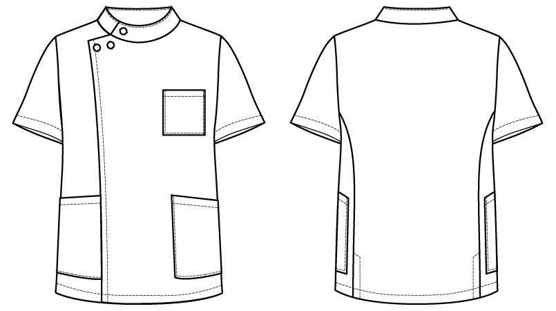 自重堂 WH10415 WHISEL メンズケーシー(男性用) ハンガーイラスト・線画