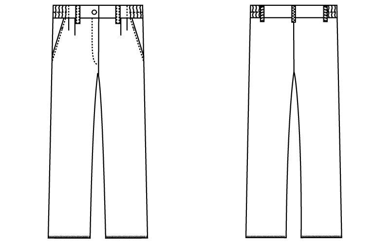 自重堂 WH10442 WHISEL レディースツータックパンツ ゆったり 股下フリー(女性用) ハンガーイラスト・線画