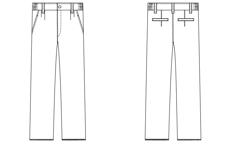 自重堂 WH10916 WHISEL メンズツータックパンツ ハンガーイラスト・線画