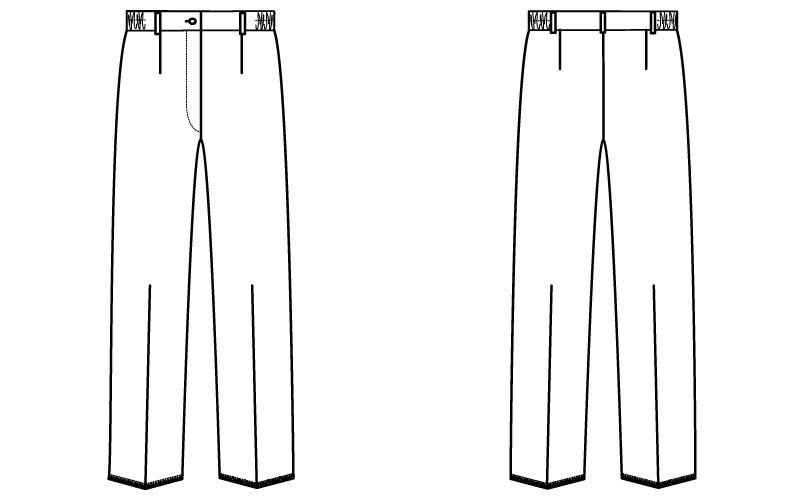自重堂 WH12012 WHISEL レディースパンツ(女性用) すっきり ウエストゴム(両サイド) ハンガーイラスト・線画