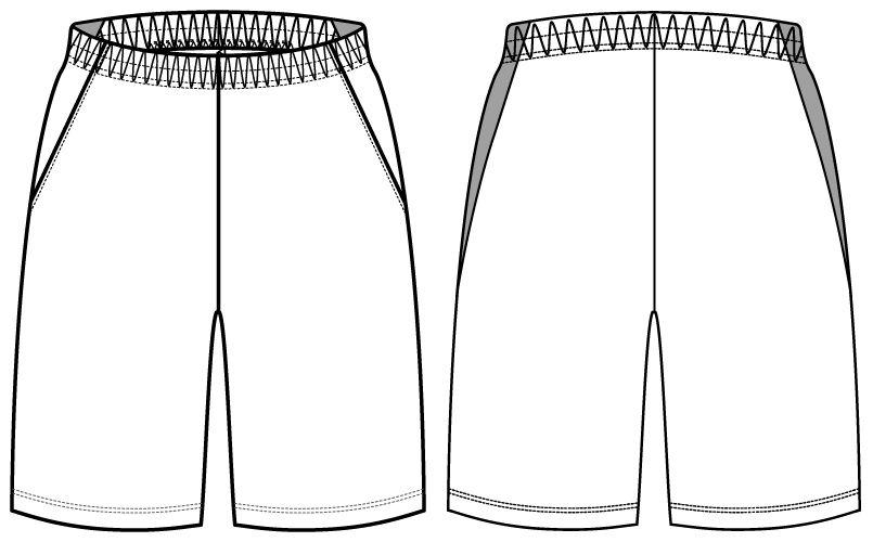 自重堂 WH90156 WHISEL ドライハーフパンツ(男女兼用) ハンガーイラスト・線画