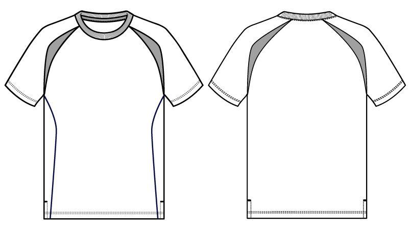 自重堂 WH90158 WHISEL ドライ半袖Tシャツ(男女兼用) ラグラン ハンガーイラスト・線画