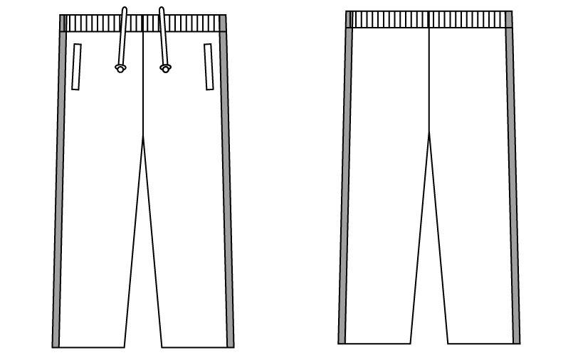 自重堂 WH90246 WHISEL パンツ(男女兼用) ハンガーイラスト・線画