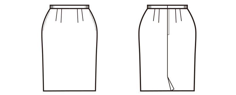 en joie(アンジョア) 51076 [通年]エコでおしゃれなプチプラ脇ゴムスカート 無地 ハンガーイラスト・線画