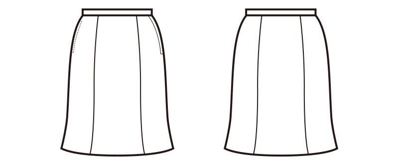 en joie(アンジョア) 51492 [通年]シックなグレーに映えるラベンダーストライプのマーメイドスカート ハンガーイラスト・線画