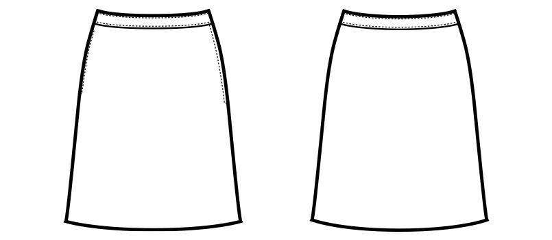 en joie(アンジョア) 51853 Aラインスカート リバティプリント 無地 ハンガーイラスト・線画
