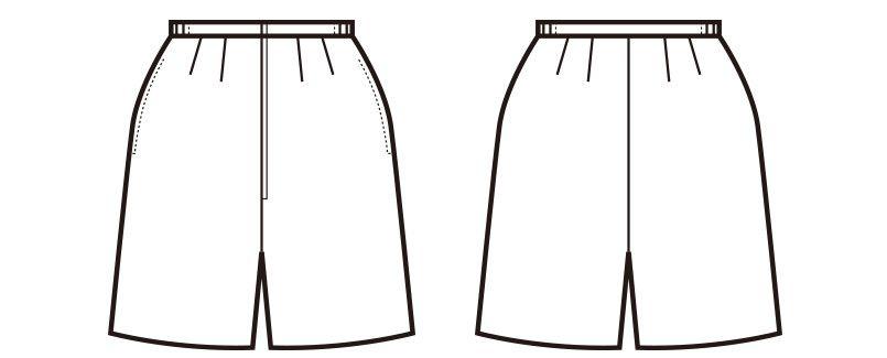 en joie(アンジョア) 71076 [通年]エコ素材でプチプラの脇ゴムキュロットスカート 無地(50cm丈) ハンガーイラスト・線画