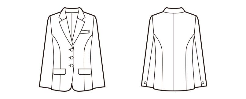 en joie(アンジョア) 81070 [通年]エコ素材で着心地バツグンのジャケット 無地 ハンガーイラスト・線画