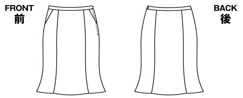 EAS477 enjoy [通年]マーメイドスカート ストライプ ハンガーイラスト・線画
