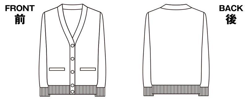 EW99 enjoy どんな気温でも快適!ゆったりサイズのカーディガン ハンガーイラスト・線画