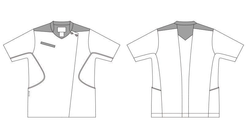 CHM058-0102 アシックス(asics) ナースジャケット(女性用) ハンガーイラスト・線画