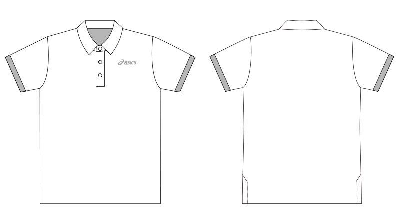 CHM306 アシックス(asics) 半袖ポロシャツ(男女兼用) ハンガーイラスト・線画