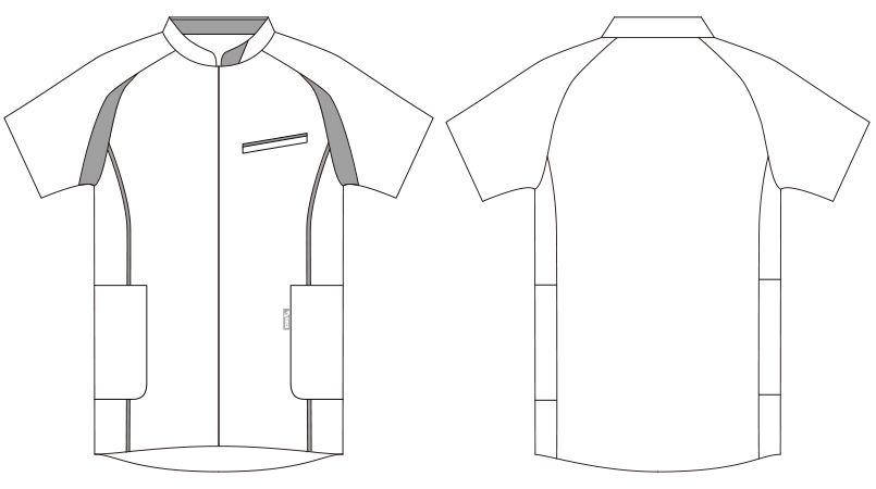 CHM552-0104 アシックス(asics) ケーシージャケット(男性用) ハンガーイラスト・線画