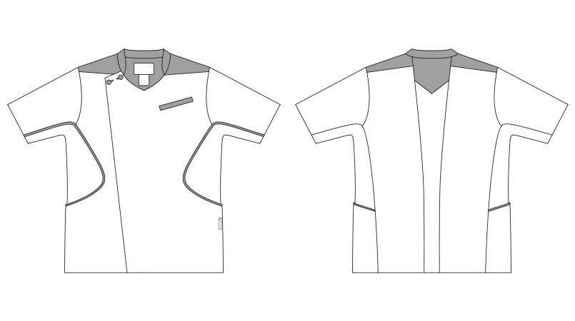 CHM558-0104 アシックス(asics) メンズケーシージャケット ハンガーイラスト・線画