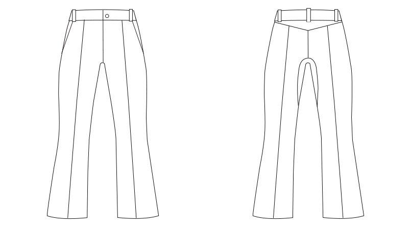 LKM101-0100 アシックス(asics) ブーツカットパンツ(女性用) ハンガーイラスト・線画