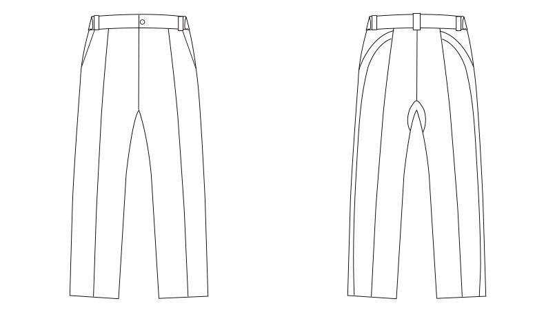 LKM601-0100 アシックス(asics) パンツ(男性用) ハンガーイラスト・線画