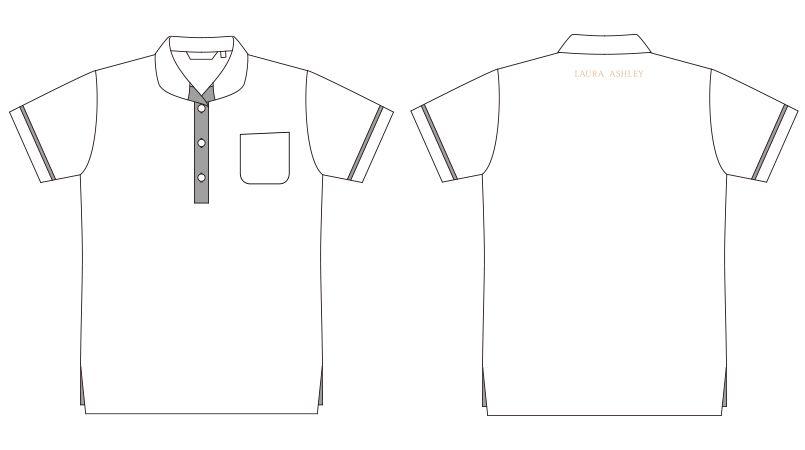 LW201 ローラ アシュレイ 半袖ニットシャツ ポロシャツ(女性用)NLK ハンガーイラスト・線画