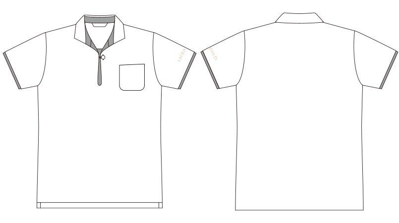 LW203 ローラ アシュレイ 半袖ニットシャツ ポロシャツ(女性用)NLK ハンガーイラスト・線画