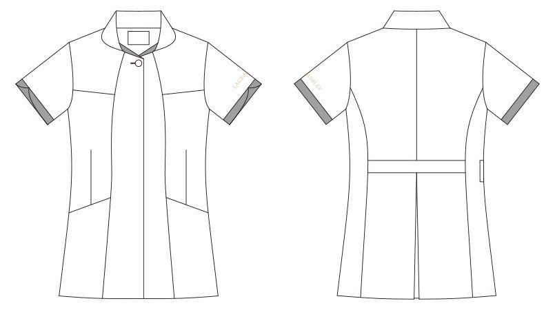 LW801 ローラ アシュレイ 半袖ナースジャケット(女性用) ハンガーイラスト・線画