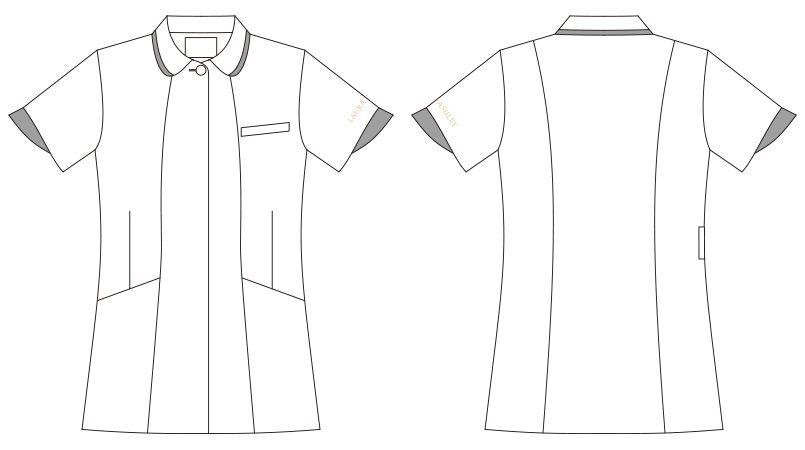 LW803 ローラ アシュレイ 半袖ナースジャケット(女性用) ハンガーイラスト・線画