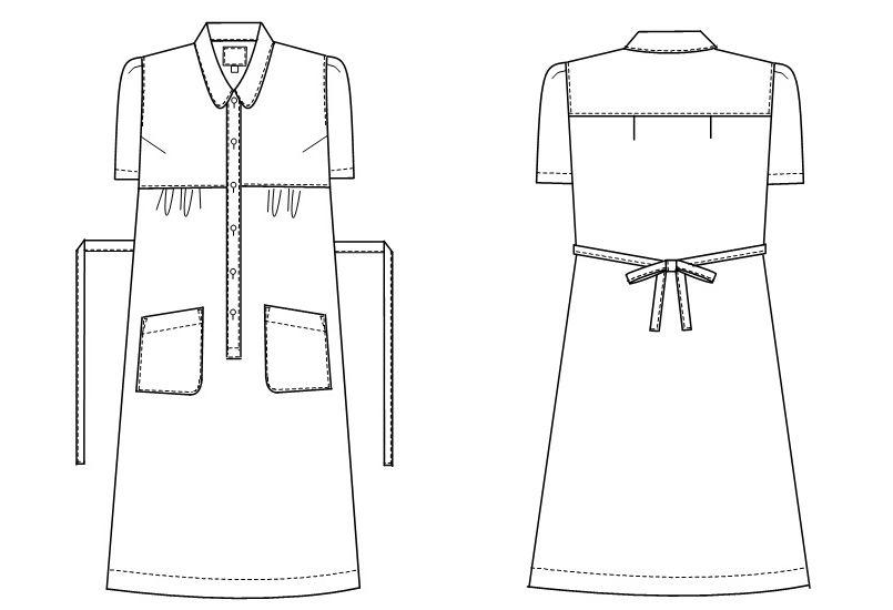 CA1782 ナガイレーベン(nagaileben) キャリアル マタニティワンピース(女性用) ハンガーイラスト・線画