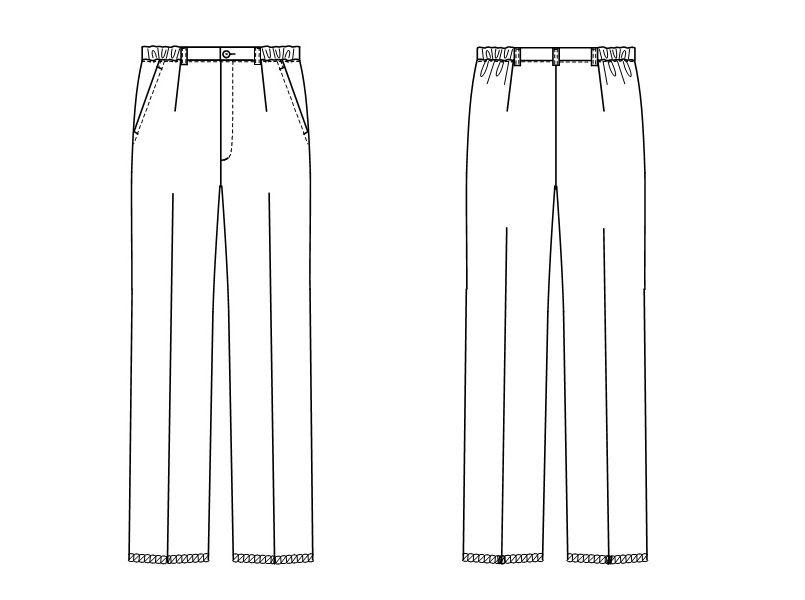 LX4003 ナガイレーベン(nagaileben) エルエックス パンツ(女性用) ハンガーイラスト・線画