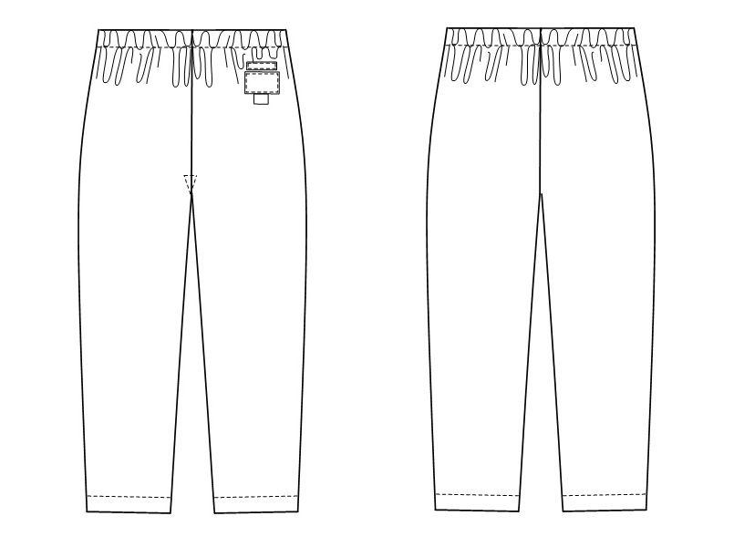 NR8623 ナガイレーベン(nagaileben) メディガード パンツ(女性用) ハンガーイラスト・線画