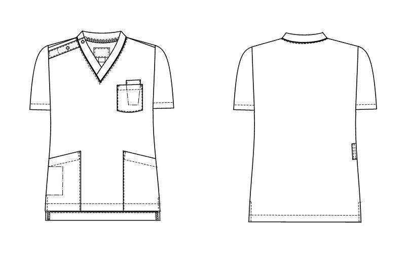 SL5092 ナガイレーベン(nagaileben) スクラブ(男女兼用) ハンガーイラスト・線画