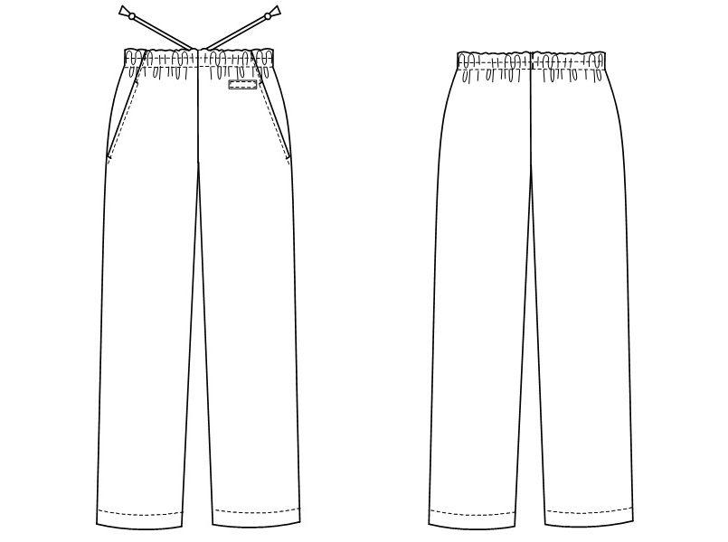 SL5093 ナガイレーベン(nagaileben) パンツ(男女兼用) ハンガーイラスト・線画