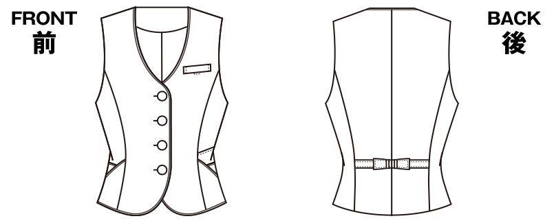 S-03850 SELERY(セロリー) [通年]ベスト ツイード ハンガーイラスト・線画