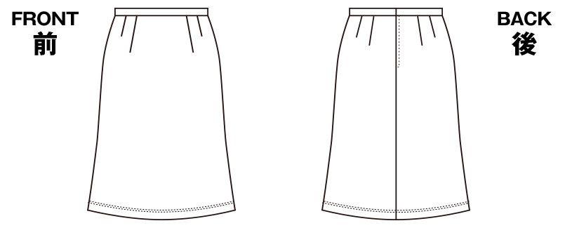 SELERY(セロリー) S-15770 [秋冬・通年]夏涼しく、冬暖かい!ニットのAラインスカート[無地] ハンガーイラスト・線画