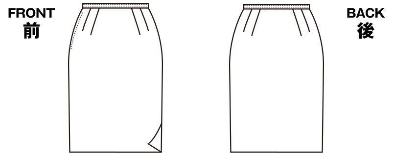 S-15970 15971 SELERY(セロリー) [春夏用]ニットなのに格段に涼しい!洗濯機で洗えるタイトスカート 無地 ハンガーイラスト・線画