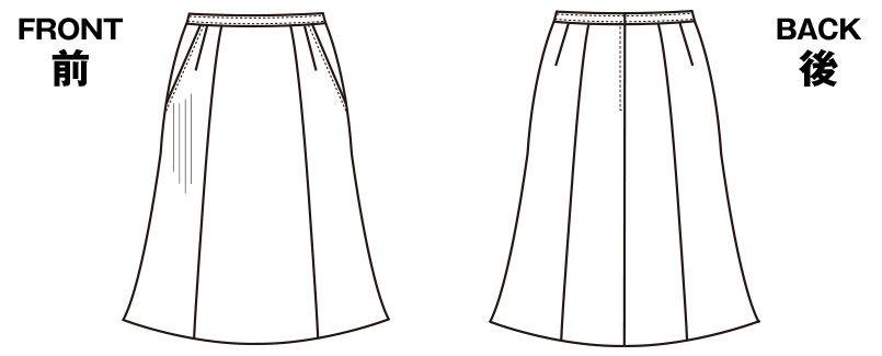 SELERY(セロリー) S-16020 [秋冬用]部屋干ししてもニオわない!お手入れラクラクのマーメイドスカート[ストライプ] ハンガーイラスト・線画
