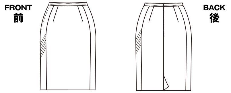 SELERY(セロリー) S-16081 [春夏用]タイトスカート [ストライプ/ストレッチ/高通気] ハンガーイラスト・線画