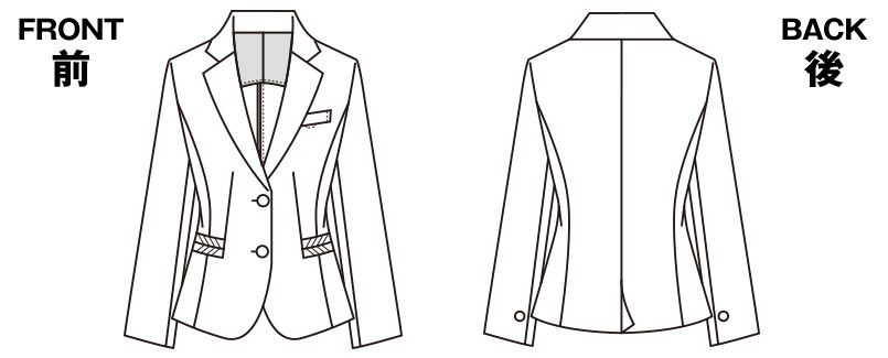 SELERY(セロリー) S-24541 [春夏用]ジャケット [ストライプ/ストレッチ/高通気] ハンガーイラスト・線画