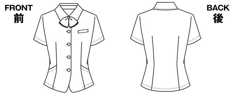 S-50140 50142 SELERY(セロリー) オーバーブラウス ストライプ ニット ハンガーイラスト・線画