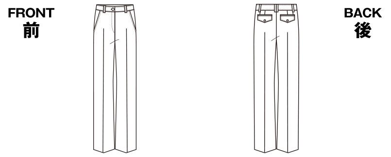 SELERY(セロリー) S-50300 [通年]部屋干ししても臭わない!お手入れラクラクの美脚パンツ ストライプ ハンガーイラスト・線画