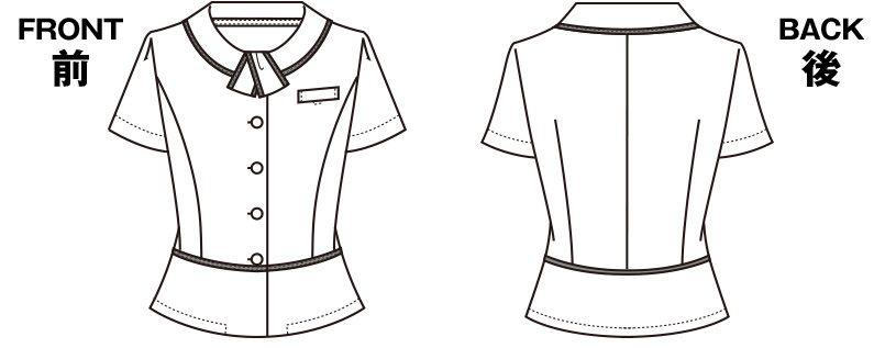 S-50340 50341 SELERY(セロリー) [春夏用]セロリーNo.1売上!清涼感あるボーダーのオーバーブラウス ハンガーイラスト・線画